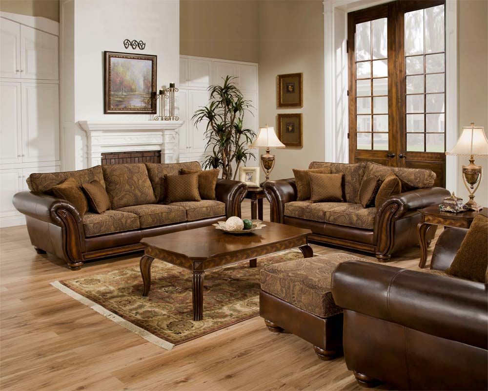 leather and fabric living room furniture kb furniture 26352