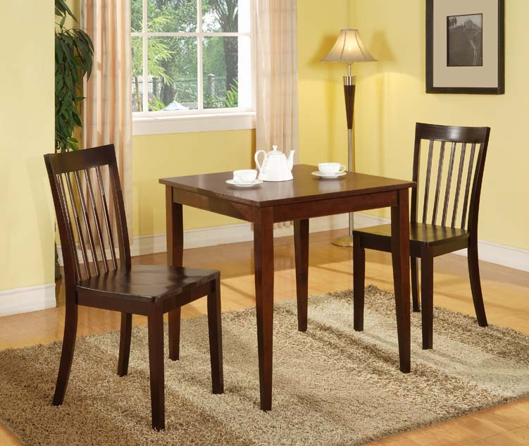 "30"" Square Cherry Finish Solid Wood Dining Room Kitchen"