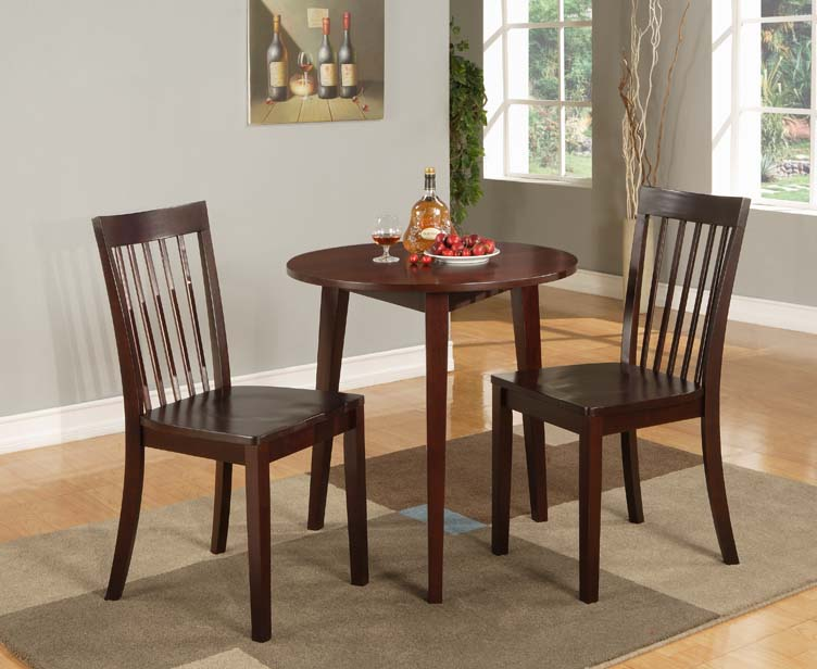 Kings Brand 30 Round Cherry Finish Wood Dining Room Kitchen Table New EBay